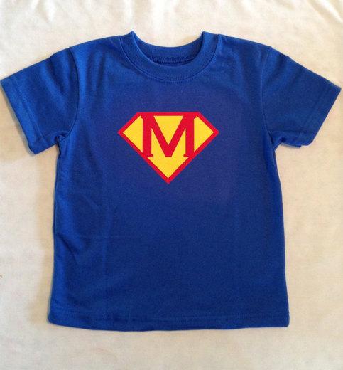 Personalized Superman T Shirt Superhero Shirt Superman