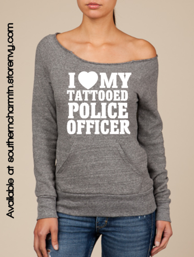 Law enforcement love my tattoo leo slouchy sweater for Tn tattoo laws