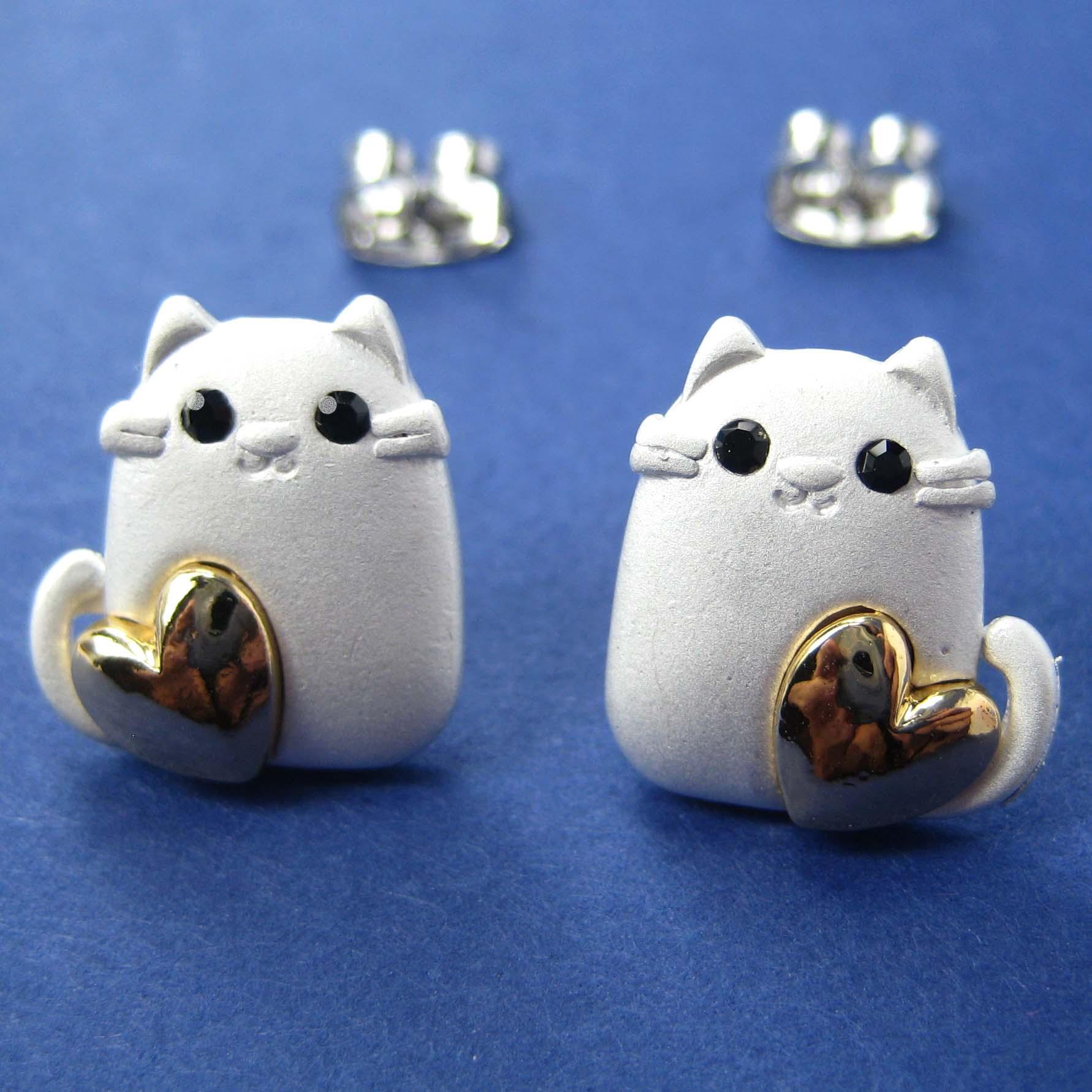 Anime Kitty Ears Kitty Cat Animal Earrings in