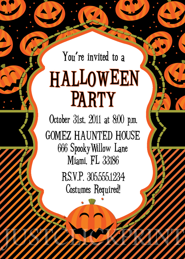 happy pumkins halloween party invitation printable just click