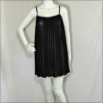 Black Pleated Chiffon Dress