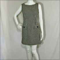 Vintage Black and White Sheath Dress