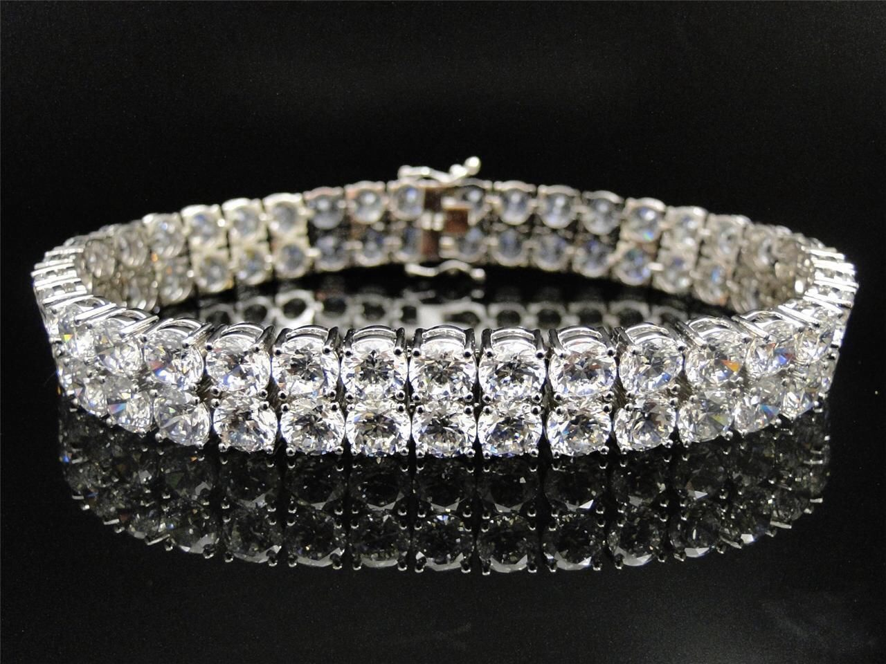 bracelet p mens sterling bracelets row diamond silver