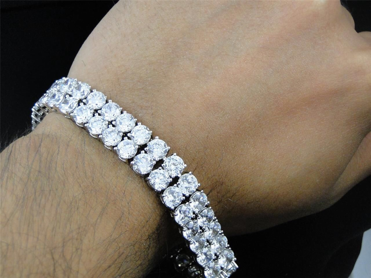 bangle p bracelet bangles sterling ct mens diamond silver