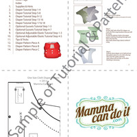 One Size Fits All Pocket Cloth Diaper Pattern - Thumbnail 3