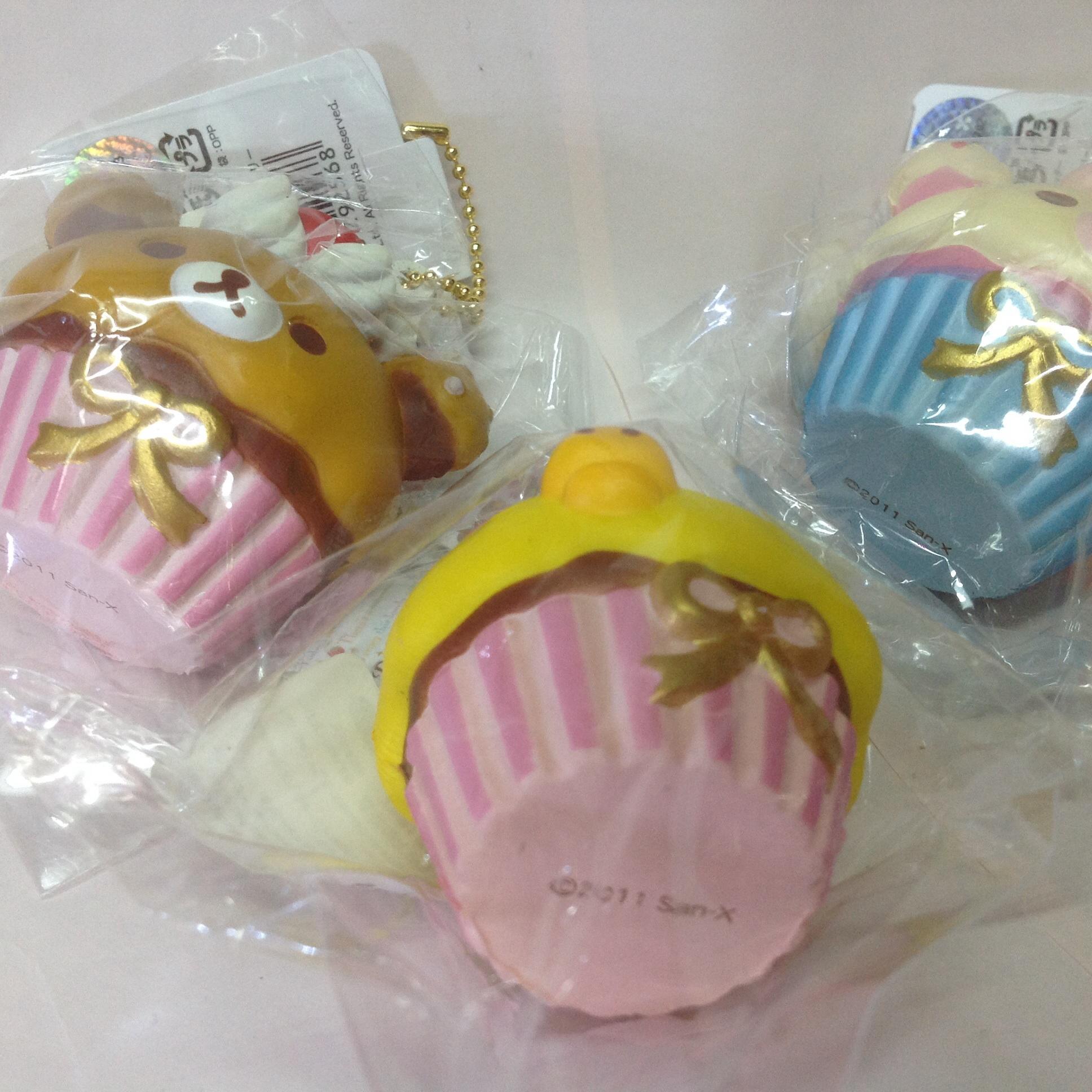 Squishy Muffinz Merch : ~SquishyStuff~ San-X Rilakkuma Cupcake Squishy Online Store Powered by Storenvy
