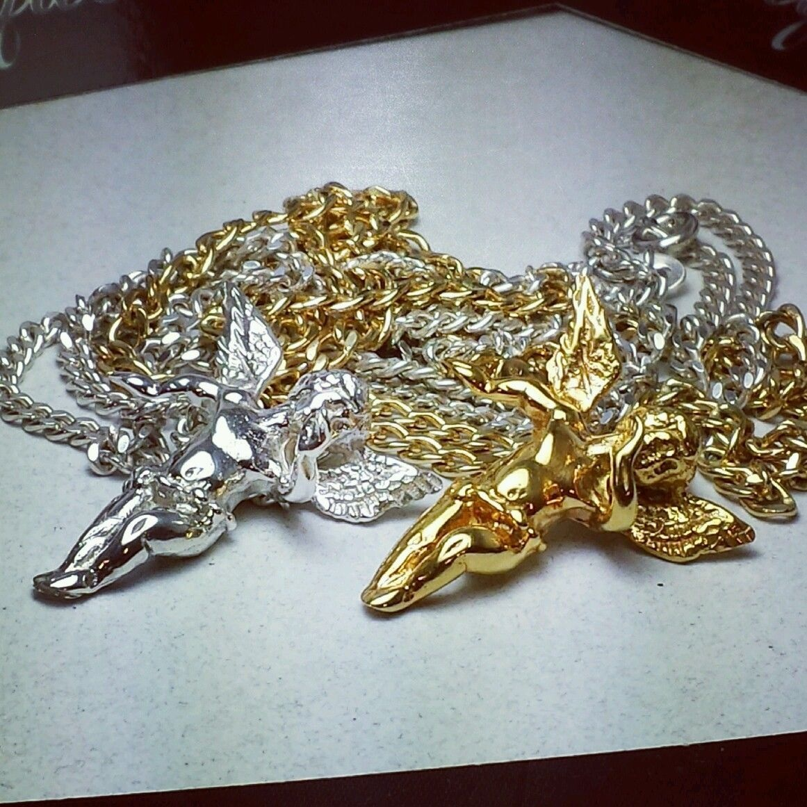 Yellow gold plated silver mini guardian angel pendants 24 cuban yellow gold plated silver mini guardian angel pendants 24 cuban links thumbnail mozeypictures Choice Image