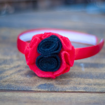 Black & Red Headband