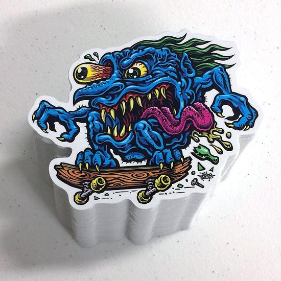 SKATE CREEP Sticker Jimbo Phillips Webstore Online Store - Full color vinyl stickers