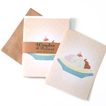 Banana Split Retro Card Set of 6
