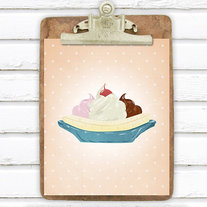 Banana Split Retro 8x10 Print