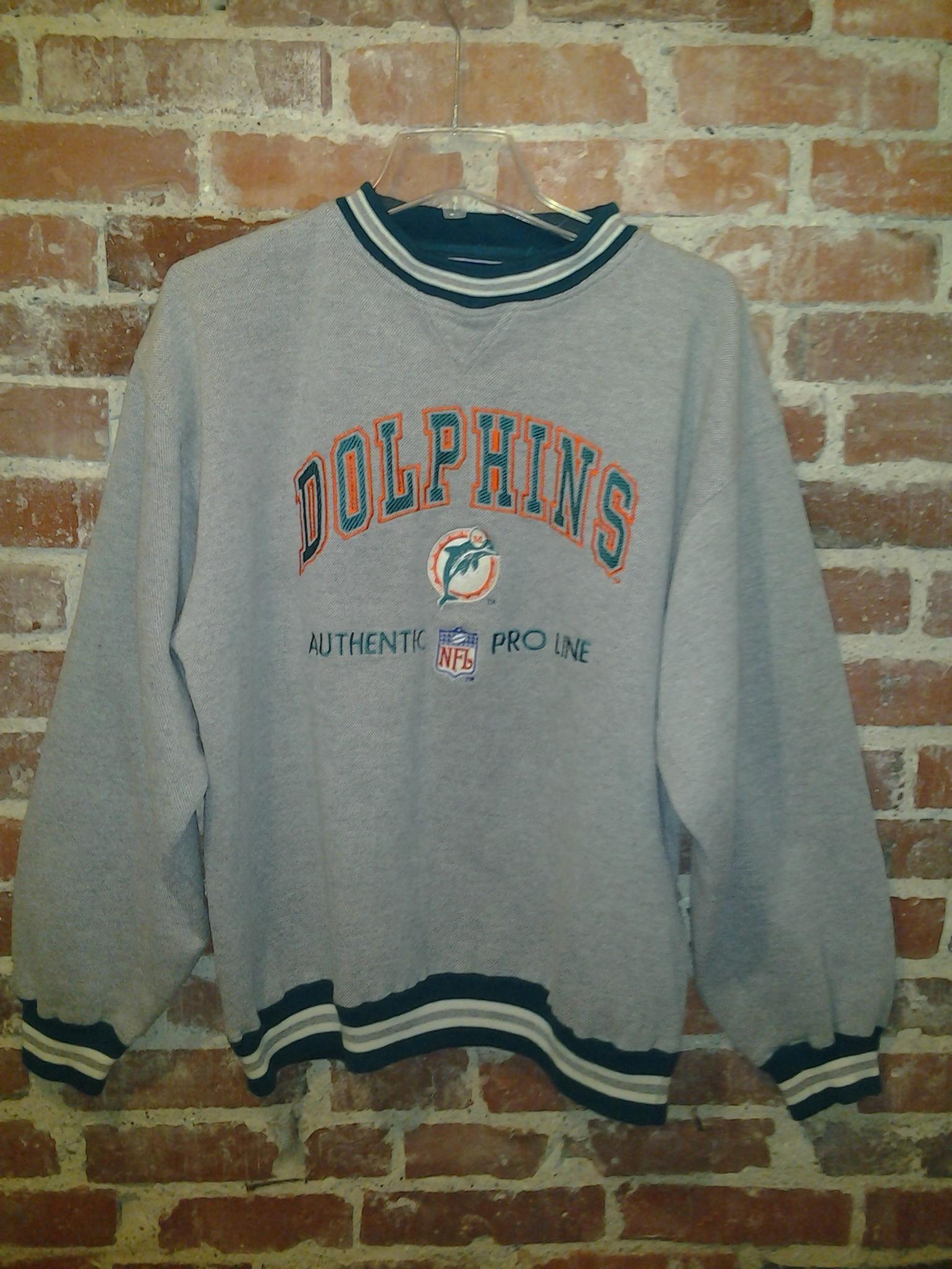 Vintage Logo Athletic Miami Dolphins Crewneck Sweatshirt Size ...