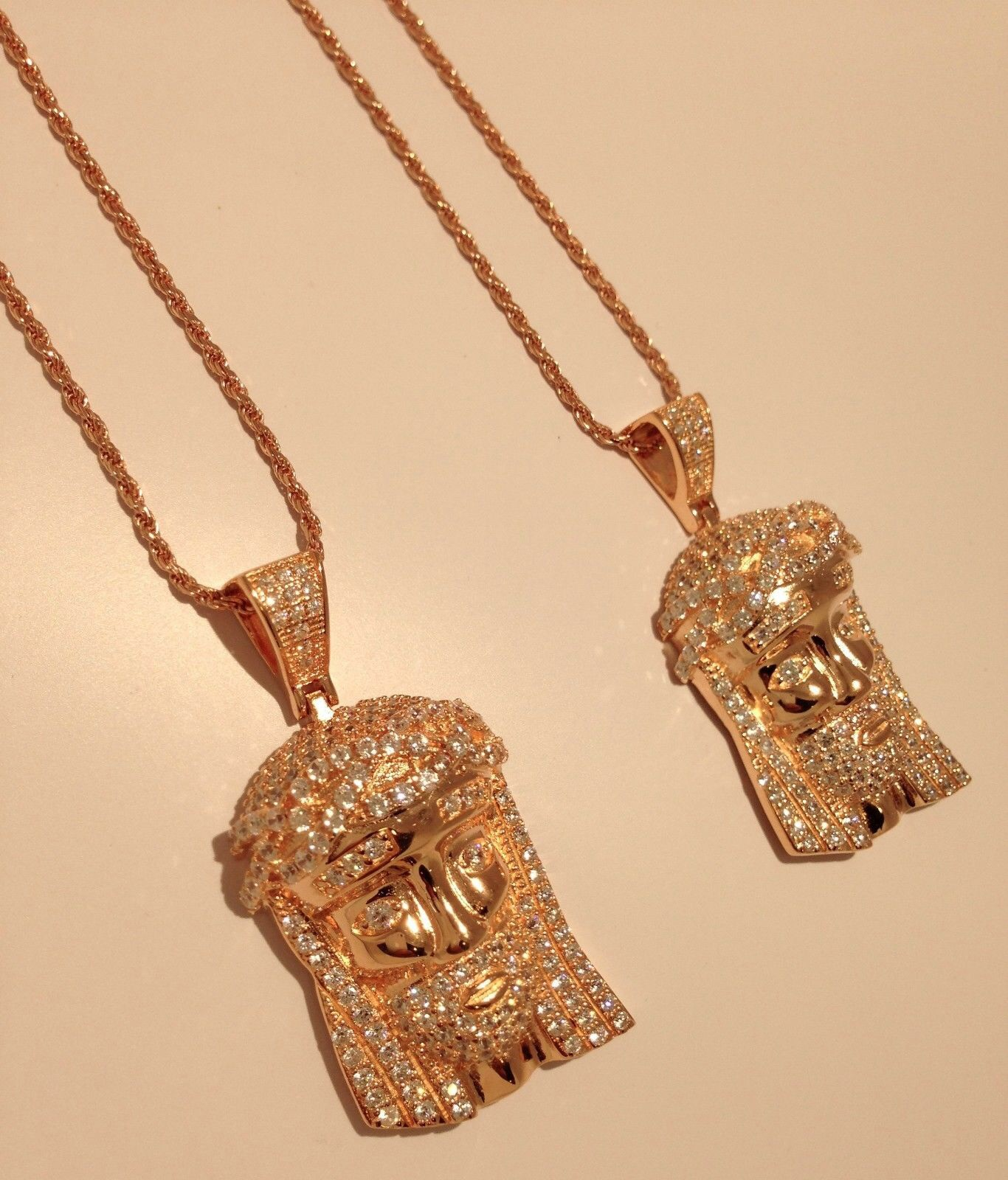 2x iced custom jesus piece w 30 rope chain dia cut 14k rose gold 2x iced custom jesus piece w 30 rope chain dia cut 14k rose gold aloadofball Choice Image
