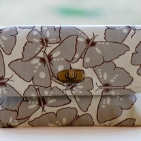 Mini Clutch - Grey Butterflies - Mother's Day Special - Was $45 Now $36