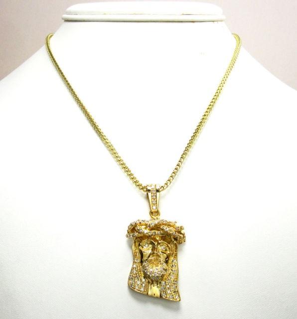 200ct mens ladies mini 14k yellow real gold jesus head charm 200ct mens ladies mini 14k yellow real gold jesus head charm diamond pendant thumbnail mozeypictures Gallery