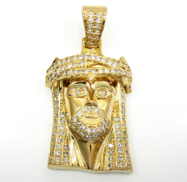 250ct mens ladies mini 14k yellow real gold jesus head charm 250ct mens ladies mini 14k yellow real gold jesus head charm diamond pendant thumbnail aloadofball