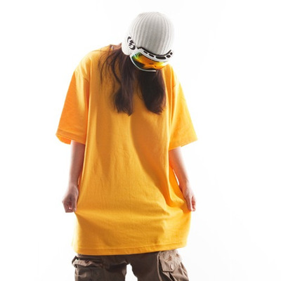 Ehoto ski & snowboard plain tall tee - yellow