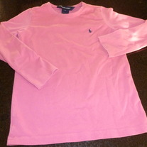 Girls Ralph Lauren LS Pink Shirt Size 6