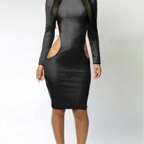 Top Diva Sexy Cutout Side Dress (black)