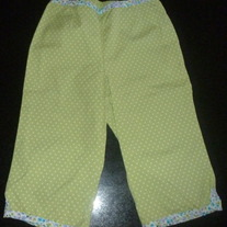 Green/White Polka Dot Capris-Gymboree-Size 4T