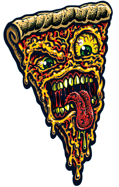 Pizza Face Full Color Shaped Vinyl Sticker 183 Jimbo
