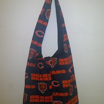 Chicago Bears Handmade Cotton Print Shoulder Bag