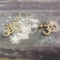 Love and Om earrings