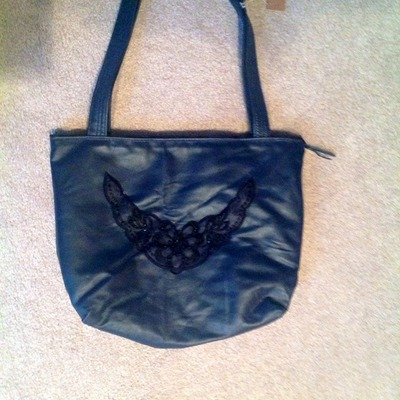 Dark blue leather purse!
