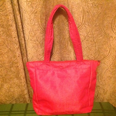 Hot pink totes great for the beach!