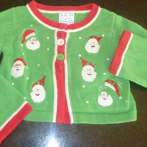 Santa Christmas Sweater-Size 4