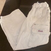 Khaki Cargo Pants-Gap Kids Size 8