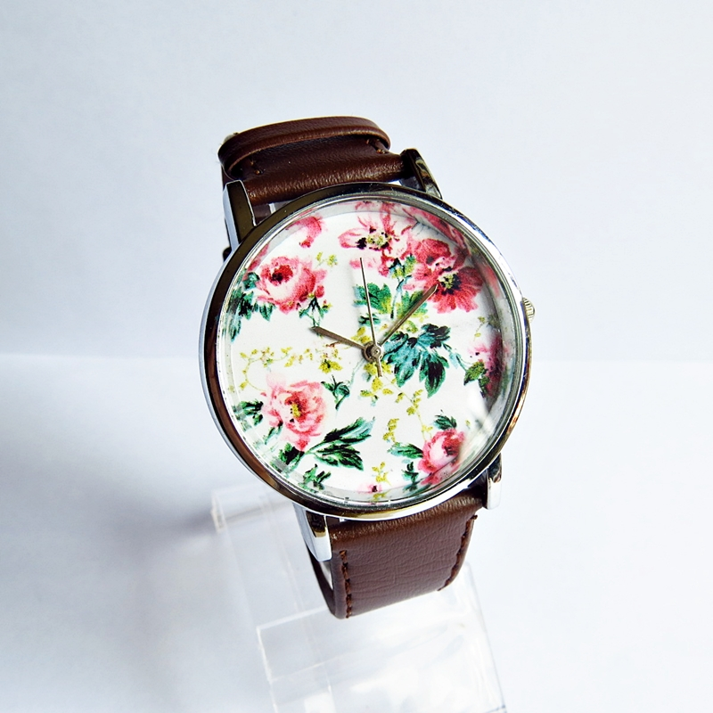 floral vintage style leather watches