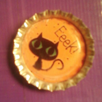 Halloween Bottlecap Necklace