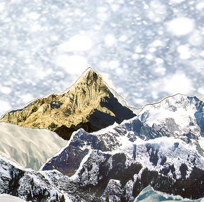 Paper collage art nature