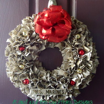 Holiday USMC Desert Cammie Wreath
