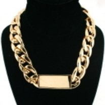Gold Short Chain ID Necklace
