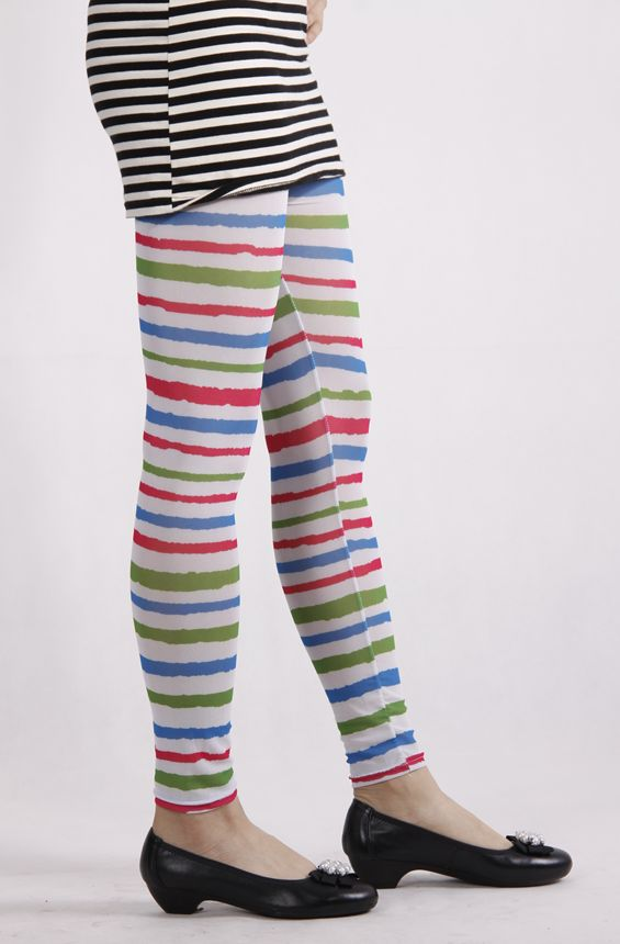 Tights For All Blue Green Amp Red Striped Tights