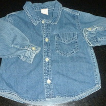 Long Sleeve Denim Shirt-Baby Gap 18-24 Months