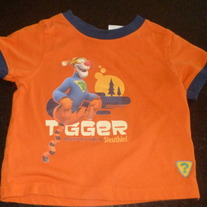 Orange Tigger Shirt-Disney Size 12 Months