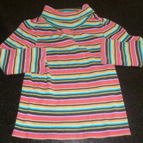 Multi Striped Turtleneck-Baby Gap Size 18-24 Months