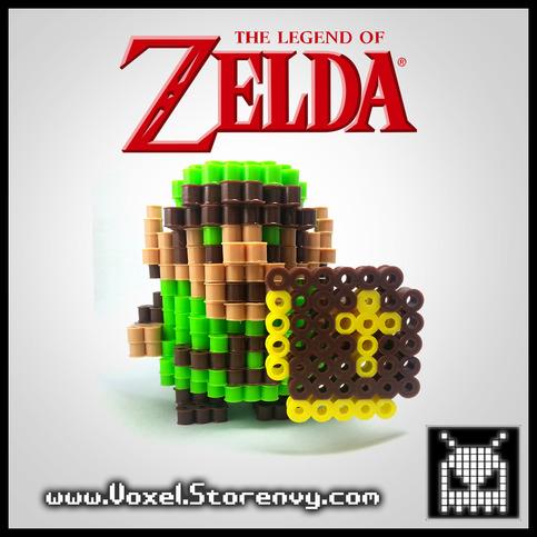 Voxel retro link 3d voxel perlerbead the legend of zelda online