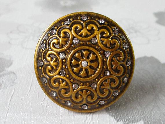 Antique Brass Knobs Glass Crystal Dresser Knob Drawer Knobs Pulls Handles Bli