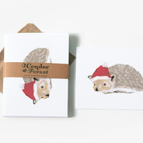Holiday Hedgehog Cards Set of 6