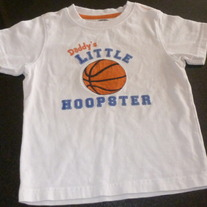 Daddy's Little Hoopster Shirt-Gymboree Size 2T