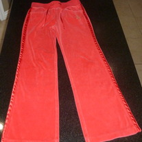 Red Velour Pants-Arizona Size 10