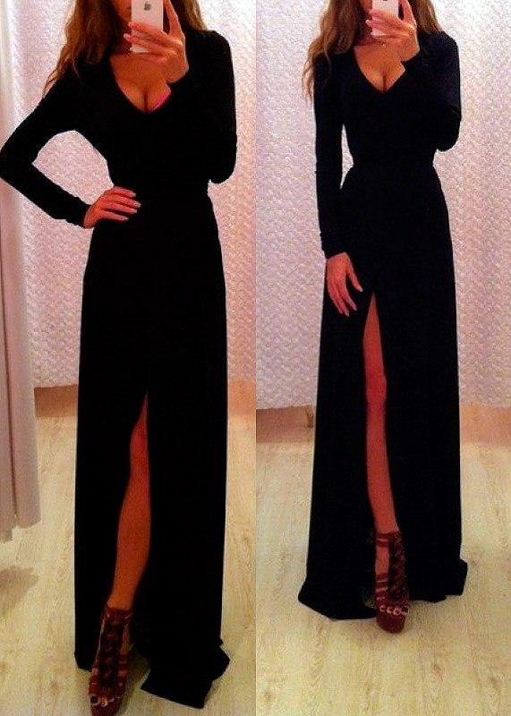 Платье Длинное С Разрезом Купить