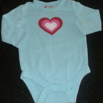 Blue Onesie With Heart-Baby Gap Size 3-6 Months