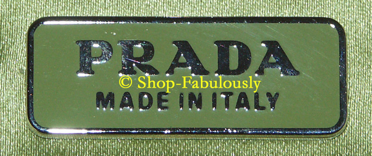 FREE US Shipping - Authentic PRADA Green Silk Satin Leather ...