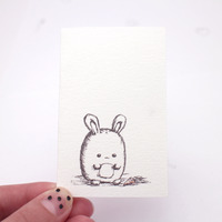 *sold* fat bunny note cards set of 6 - Thumbnail 1