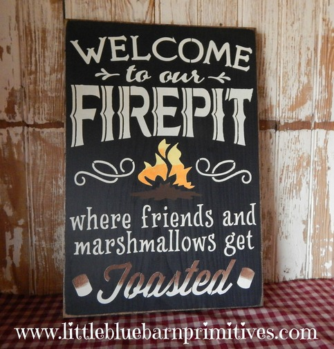 Welcome To Our Firepit Where Friends And Marshmallows Get